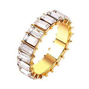 NWOT Gold & White CZ Ring